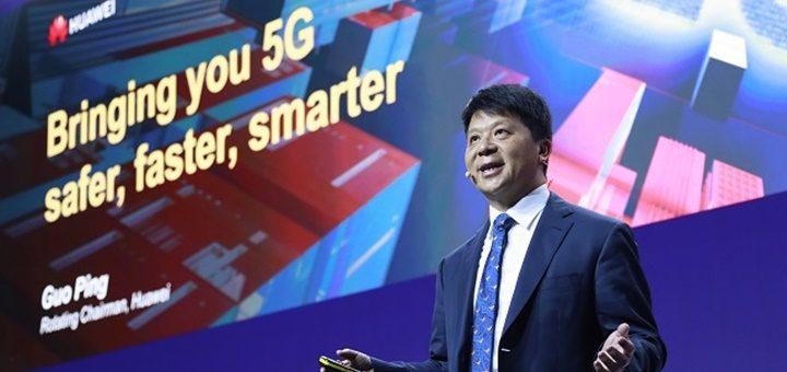 Guo Ping, presidente rotativo de Huawei. Imagen: Huawei