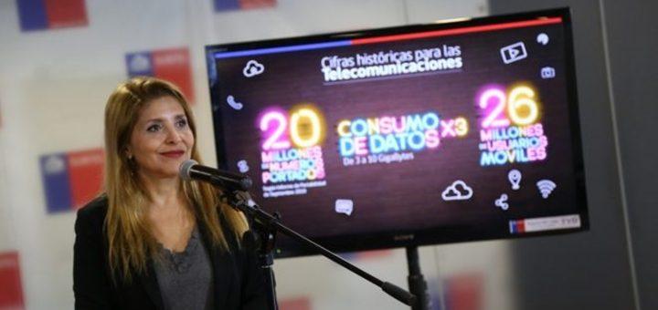 Se incrementaron 21,5% anual las conexiones 4G en Chile hasta 15,8 millones